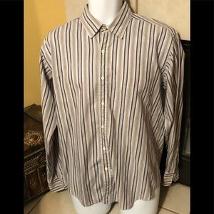 Yves Saint Laurent striped button down shirt Sz L